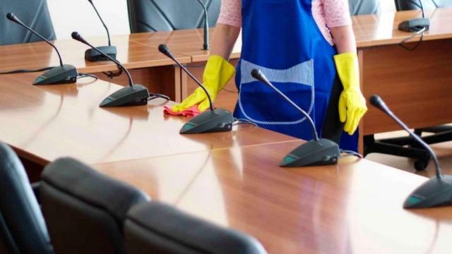 pulizia di complessi aziendali